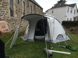 Curate in a tent - Rev Caspar Bush - spends a week in a tent