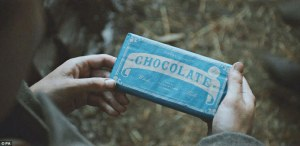 The scene with the chocolate bar