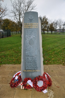 The Memorial to 115 Squadron at what was RAF Witchford, Cambridgeshire